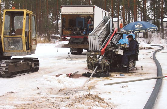 Installation of a transfer sewer, Siltakylä / Pyhtää